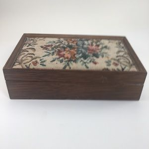 Vintage Asian Wooden Jewelry Box!